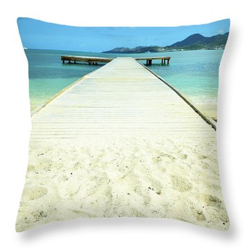 Nettle Bay Dock Throw Pillow