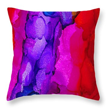 Throw Pillow featuring the painting Network by Angela Treat Lyon