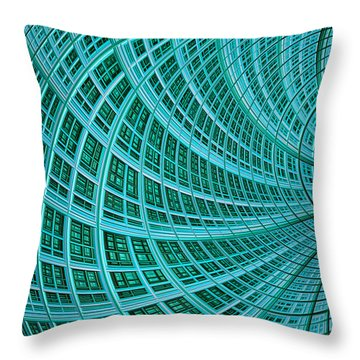 Network Throw Pillow by John Edwards