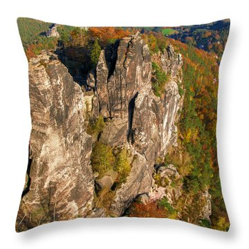 Neurathen Castle In The Saxon Switzerland Throw Pillow