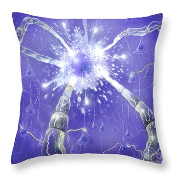 Neuron Impulse Throw Pillow