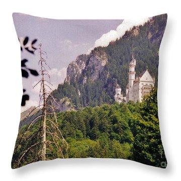 Neuschwanstein Castle Throw Pillow by Halifax Artist John Malone