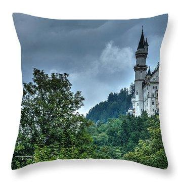 Throw Pillow featuring the photograph Neuschwanstein Castle by Joe  Ng