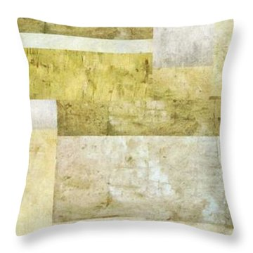 Neutral Study No. 5 Throw Pillow by Michelle Calkins