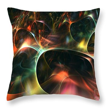 Neutrino Throw Pillow