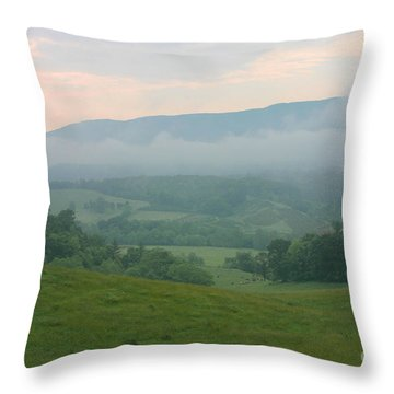 Neva Mist Throw Pillow