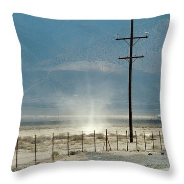 Nevada Dust Devil Throw Pillow