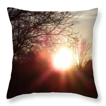Nevada Sunset Throw Pillow