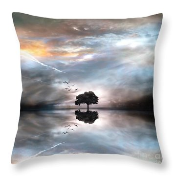 Never Alone Throw Pillow by Jacky Gerritsen