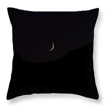 Never Summer Range Moonset Throw Pillow by Jon Burch Photography