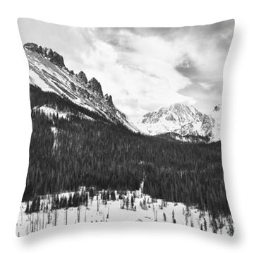 Never Summer Wilderness Area Panorama Bw Throw Pillow by James BO  Insogna