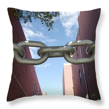 Neverbust Throw Pillow by Blue Sky