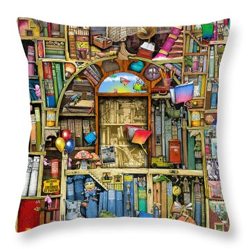 Neverending Stories Throw Pillow