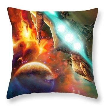Nevtar Stardrive Throw Pillow by James Christopher Hill