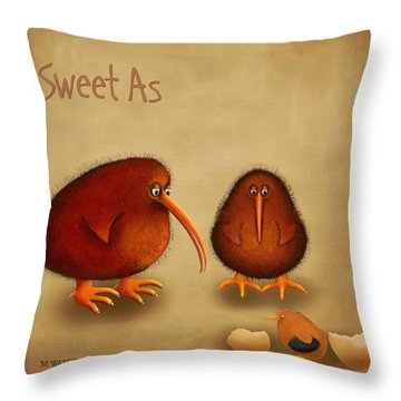 New Arrival. Kiwi Bird - Sweet As - Boy Throw Pillow