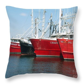 New Bedford's Commercial Fishing Fleet Throw Pillow