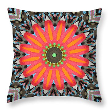 Throw Pillow featuring the photograph Salmon Fest by I'ina Van Lawick
