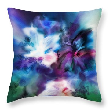 Throw Pillow featuring the digital art New Bouquet by Frank Bright