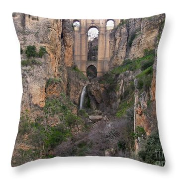 New Bridge V2 Throw Pillow by Suzanne Oesterling