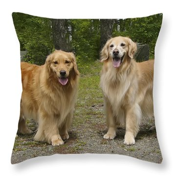 New Buddies Throw Pillow