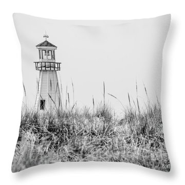 New Buffalo Lighthouse In Southwestern Michigan Throw Pillow