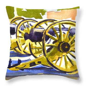 New Cannon Throw Pillow