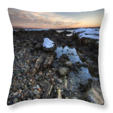 New Castle Dawn Throw Pillow by Eric Gendron