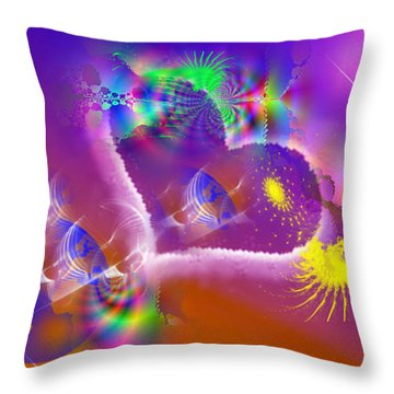 New Creation Throw Pillow by Ute Posegga-Rudel