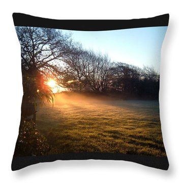 New Dawn Fades Throw Pillow