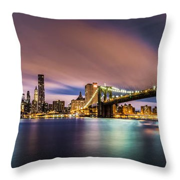 New Dawn Over New York Throw Pillow by Mihai Andritoiu