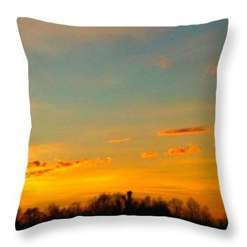 New Day Throw Pillow by Linda Bailey