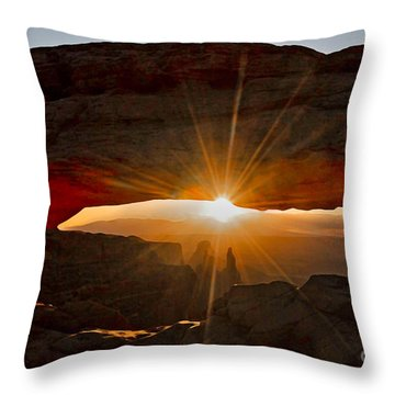 Throw Pillow featuring the photograph New Day by Mae Wertz