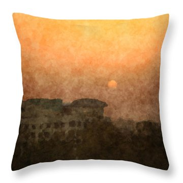 New Delhi Sunset Throw Pillow