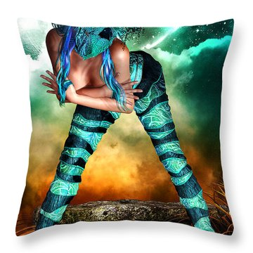 New Earth 3015 Throw Pillow
