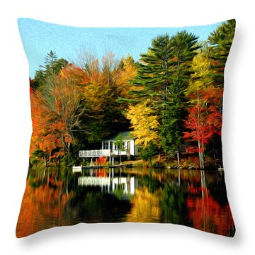New England Throw Pillow by Bill Howard