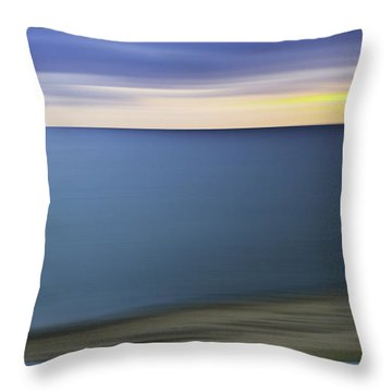 New England Seascape Abstract Throw Pillow