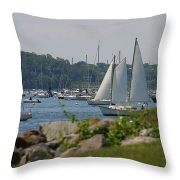 Throw Pillow featuring the photograph New England Seascape by Denyse Duhaime