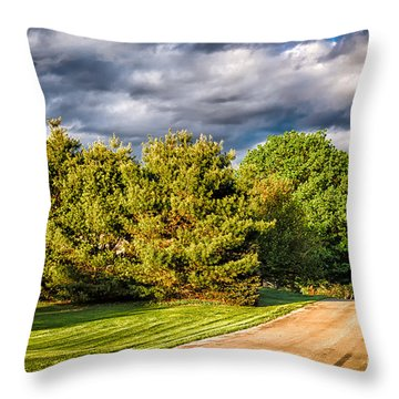 New England Spring 52 Throw Pillow