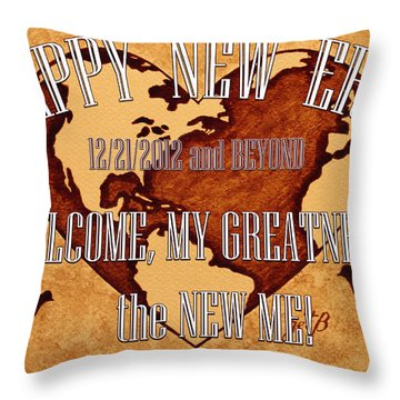 New Era On Earth  Throw Pillow by Costinel Floricel