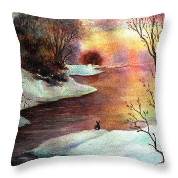 New Every Morning  Throw Pillow by Hazel Holland