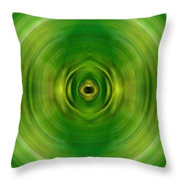 New Growth - Green Art By Sharon Cummings Throw Pillow