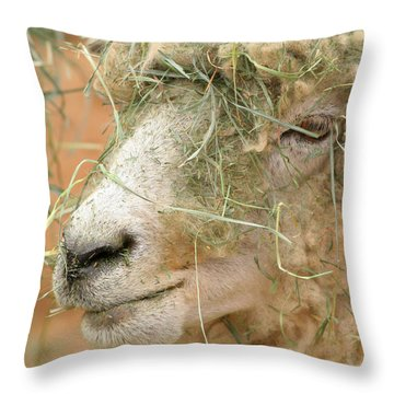 New Hair Style Throw Pillow by Art Block Collections