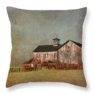 New Hampshire Barn  Throw Pillow