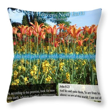 New Heavens New Earth Throw Pillow