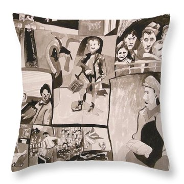 New Hope At The End Of The British Mandate Throw Pillow by Esther Newman-Cohen