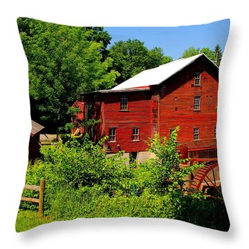 New Hope Mill Throw Pillow by Dave Files