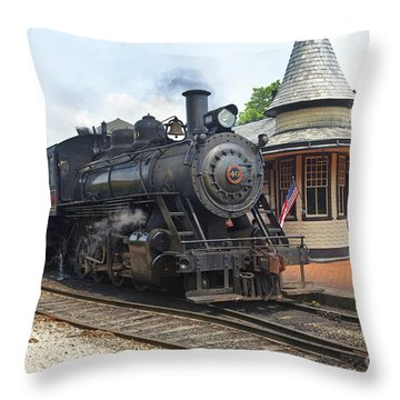 New Hope Station Throw Pillow by Paul W Faust -  Impressions of Light