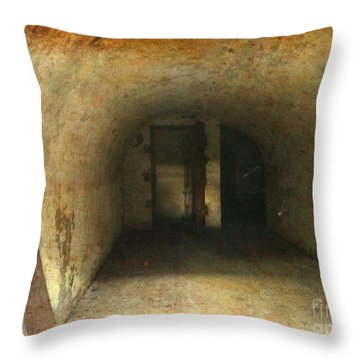 New Jersey Military Cave Throw Pillow