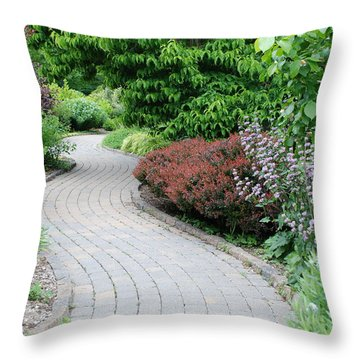 Throw Pillow featuring the photograph Frelinghuysen Arboretum Path by Richard Bryce and Family
