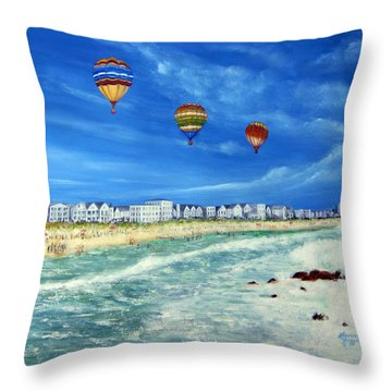New Jersey Shore Throw Pillow